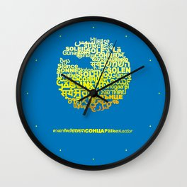 Sun in Different Languages Wall Clock