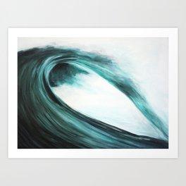 Barreling wave Art Print