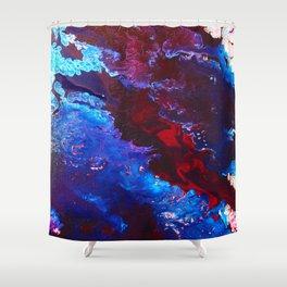 Maroon Flow Shower Curtain