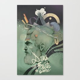 The traveler dreams Canvas Print