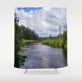 Boundary Waters Entry Point Shower Curtain