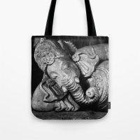 ganesha Tote Bags featuring Ganesha by Falko Follert Art-FF77