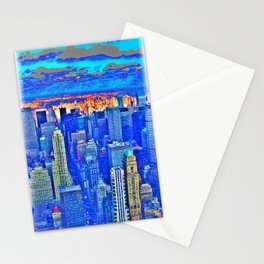 New York Blues Stationery Cards