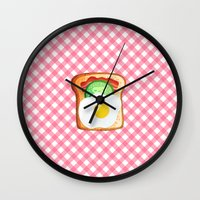 novelty Wall Clocks featuring Good morning by Anna Alekseeva kostolom3000