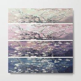 Vincent Van Gogh : Almond Blossoms Panel Art Teal Lavender Metal Print