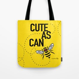 Cute As Can Be - yellow Tote Bag