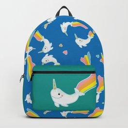 Rainbow Narwhal Backpack