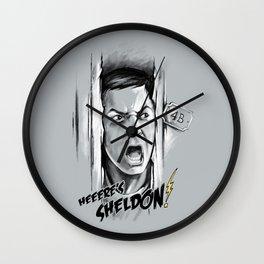 Heeere's Sheldon! Wall Clock