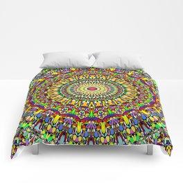 Happy Colorful Jungle Garden Mandala Comforters