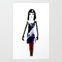 dress Art Prints featuring Dress by Mikhaelle A.