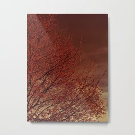 Firelight Tree Metal Print