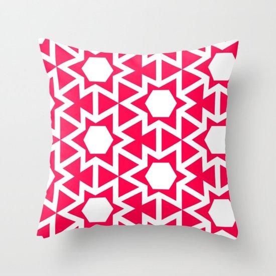 Zoutman Neon Pink Pattern Throw Pillow