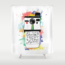 Develop From the Negatives Shower Curtain