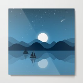 Seaside Dream Time Metal Print