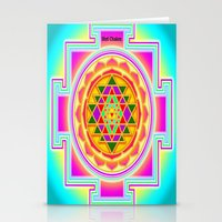 chakra Stationery Cards featuring Shri Chakra by Artisticcreationsusa