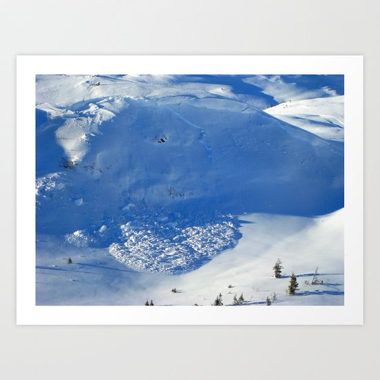 Avalanche season  Art Print