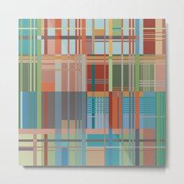 Colored Lines Metal Print