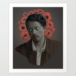 Castiel. Poppy halo Art Print