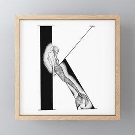 Mermaid Alphabet - K Framed Mini Art Print