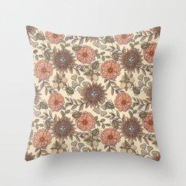 Mutant Helianthus No3 Autumn Sun Throw Pillow
