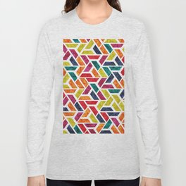 Seamless Colorful Geometric Pattern XII Long Sleeve T-shirt