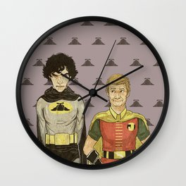 The Adventures of Hat-man and John the Boy Wonder Wall Clock