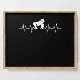 Monkey Gorilla Heartbeat Pulse Gift Serving Tray