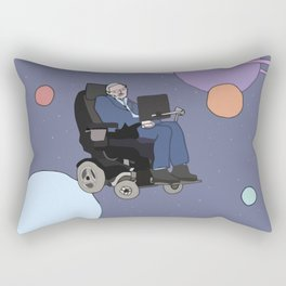 Stephen Hawking art Rectangular Pillow