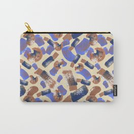 Abstract Blue Purple Pattern Carry-All Pouch