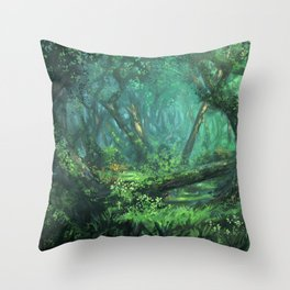 Forest of the Wise Throw Pillow