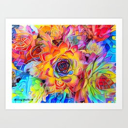 Succulent Madness Art Print
