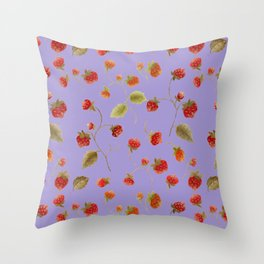 Strawberry Jammin Throw Pillow