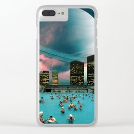 Evening Swim Clear iPhone Case
