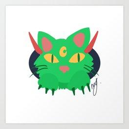 Demon Cat Art Print