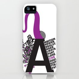 A is the Letter iPhone Case