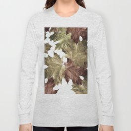Faded Autumn Leaves Long Sleeve T-shirt