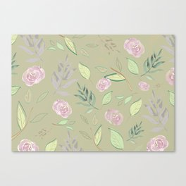 Simple and stylized flowers 6 Canvas Print