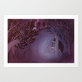 A bear in the forest Art Print
