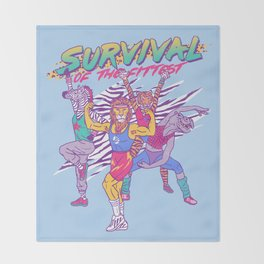 Survival of the Fittest Throw Blanket