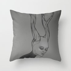 Stream of Thought Throw Pillow