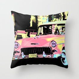 Cuban Classic Car Throw Pillow