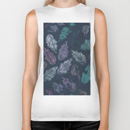 Abstract leaf painting Biker Tank