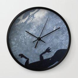 Lizard on metal Wall Clock