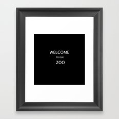 WELCOME TO OUR ZOO Framed Art Print