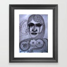 Hair machine Framed Art Print