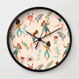 Central Park Workout #illustration #pattern #womensday Wall Clock