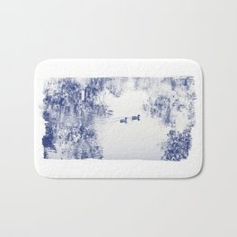 Blue Ducks Bath Mat
