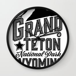 Grand Teton National Park, Wyoming Wall Clock