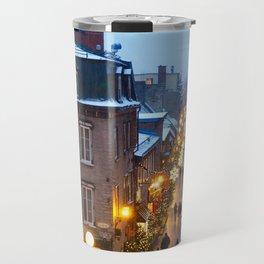 Quebec City Winter Travel Mug