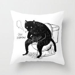Shit happens Throw Pillow